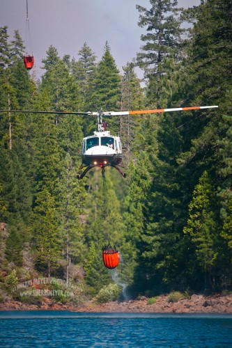 American Fire, Sugar Pine Reservoir, Helicopters, Foresthill