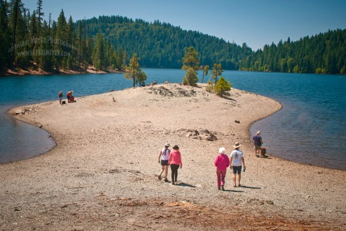 Hiking, Sugar Pine Reservoir, Foresthill, California